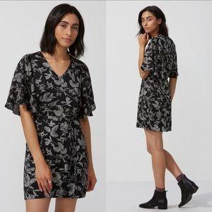 Frank & Oak NWOT black nature print dress
